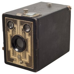 Midcentury Leather Box Camera, circa 1950