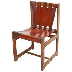 Midcentury Leather Chair, circa 1960