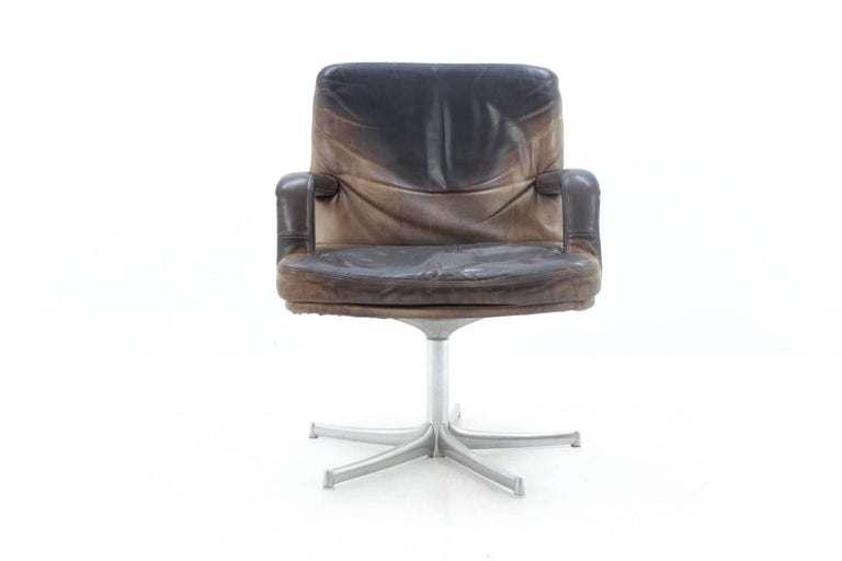 Midcentury Leather Chair Designed By Bernd M 252 Nzebrock For
