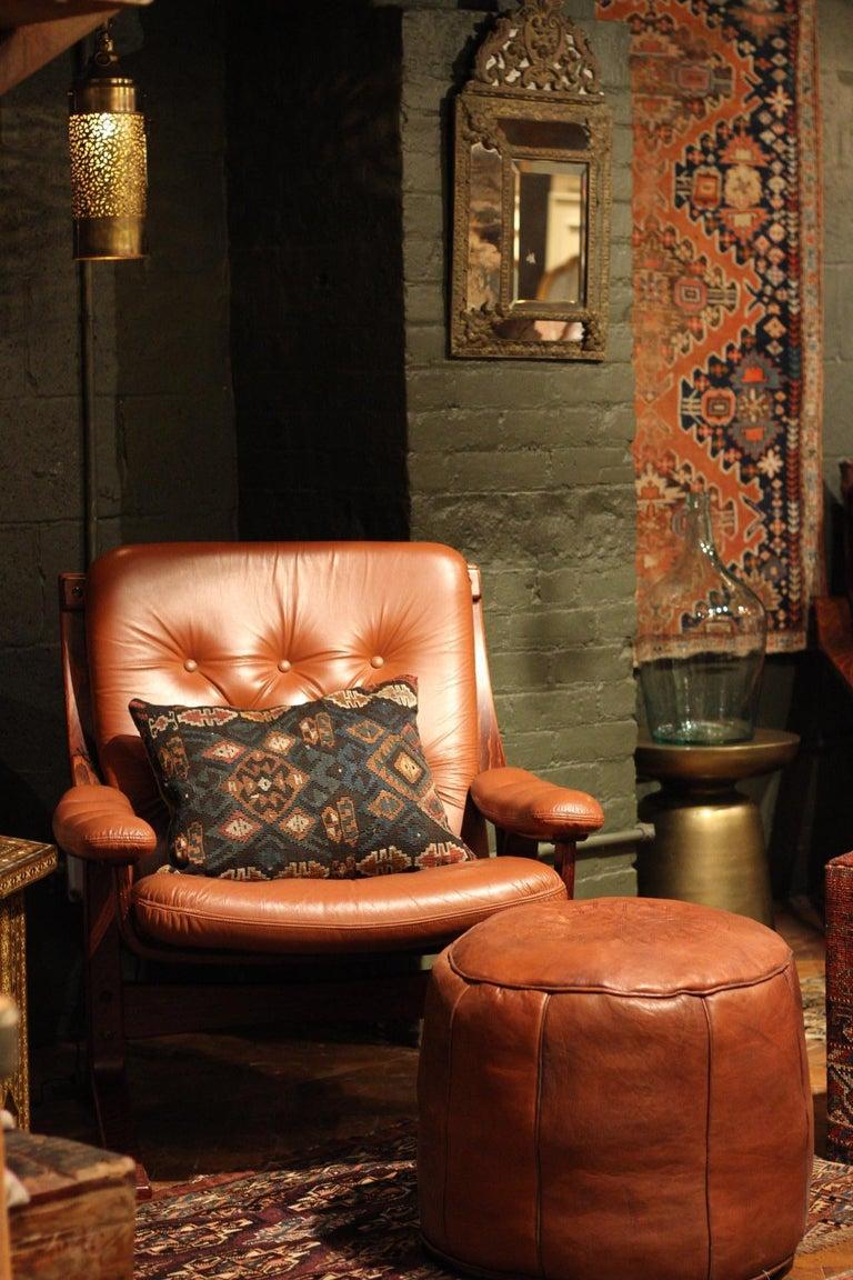 Danish Midcentury Leather Lounge Chair