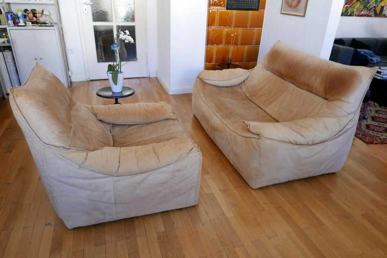 Midcentury Leather Seating Group 'The Rock' by Gerard van den Berg for Montis For Sale 7