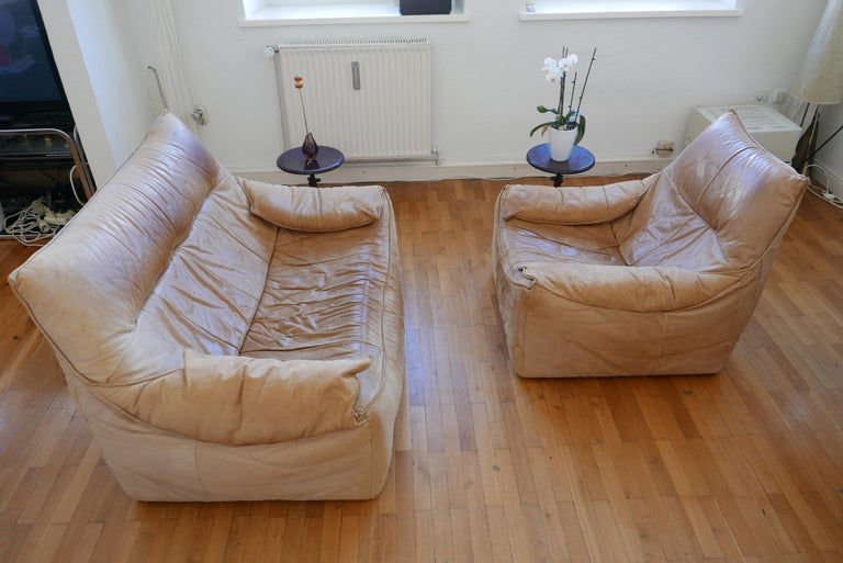 Midcentury Leather Seating Group 'The Rock' by Gerard van den Berg for Montis For Sale 8