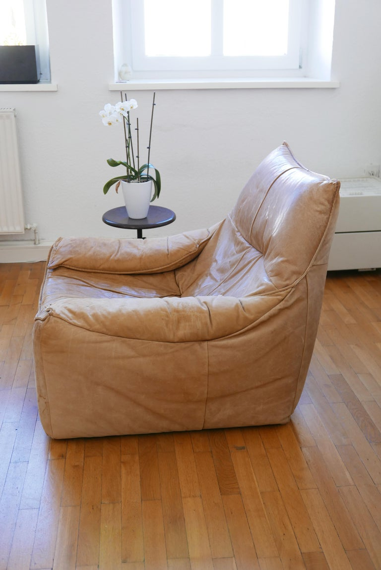 Midcentury Leather Seating Group 'The Rock' by Gerard van den Berg for Montis For Sale 9