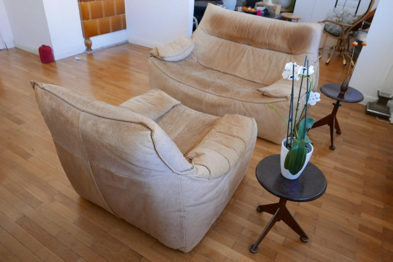 Midcentury Leather Seating Group 'The Rock' by Gerard van den Berg for Montis For Sale 10
