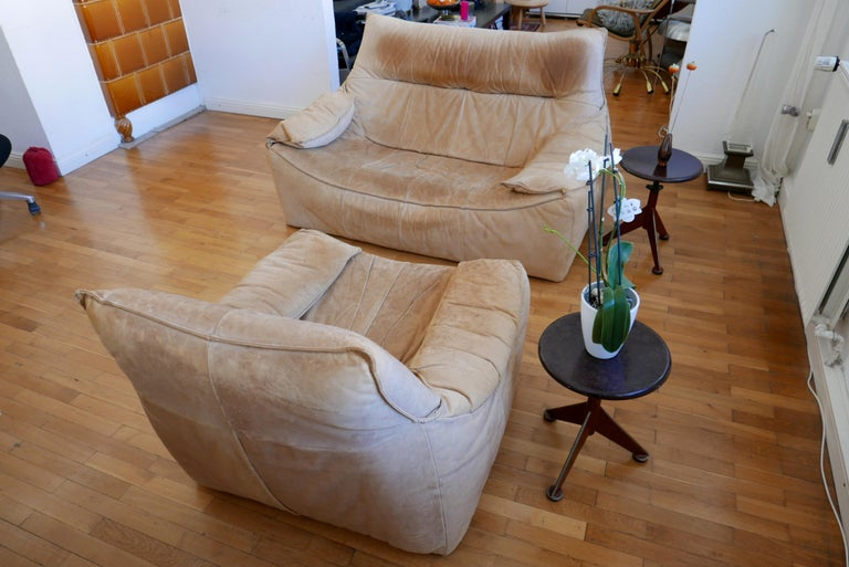 Midcentury Leather Seating Group 'The Rock' by Gerard van den Berg for Montis For Sale 11