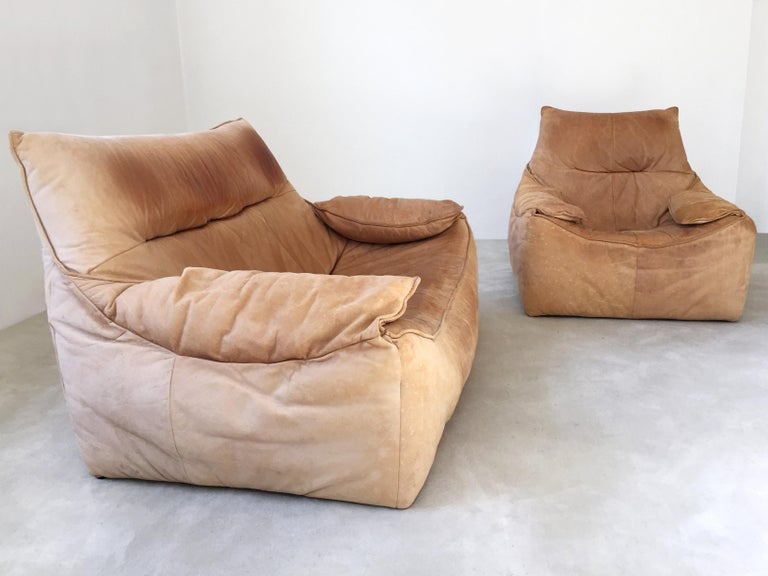 Midcentury Leather Seating Group 'The Rock' by Gerard van den Berg for Montis In Good Condition For Sale In Munich, DE