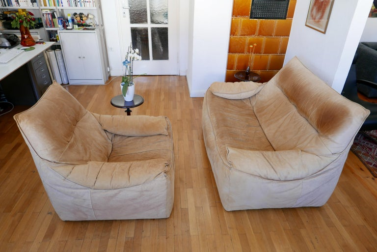 Midcentury Leather Seating Group 'The Rock' by Gerard van den Berg for Montis For Sale 5
