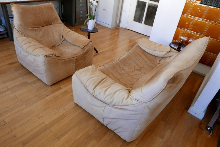 Midcentury Leather Seating Group 'The Rock' by Gerard van den Berg for Montis For Sale 6