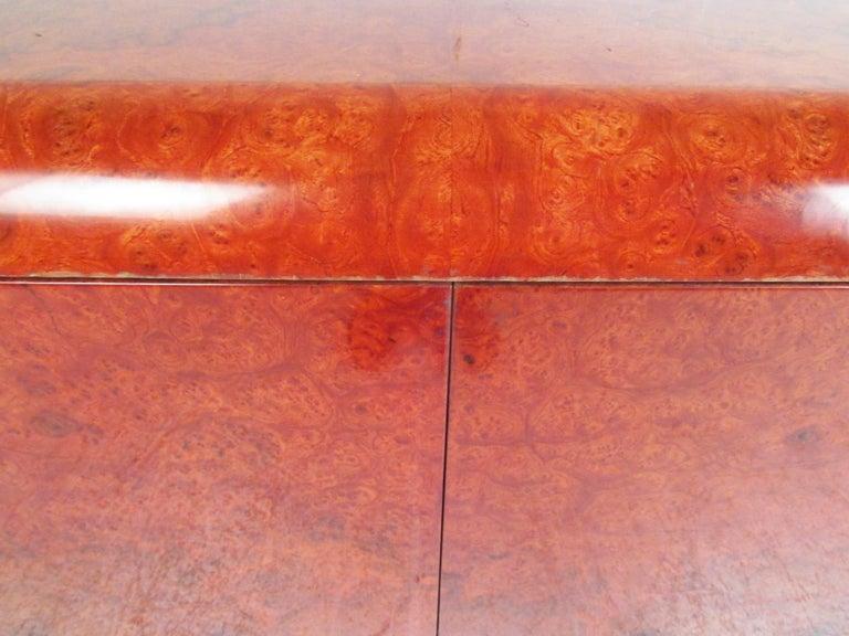 Midcentury Leon Rosen Pace Burl wood Credenza For Sale 4