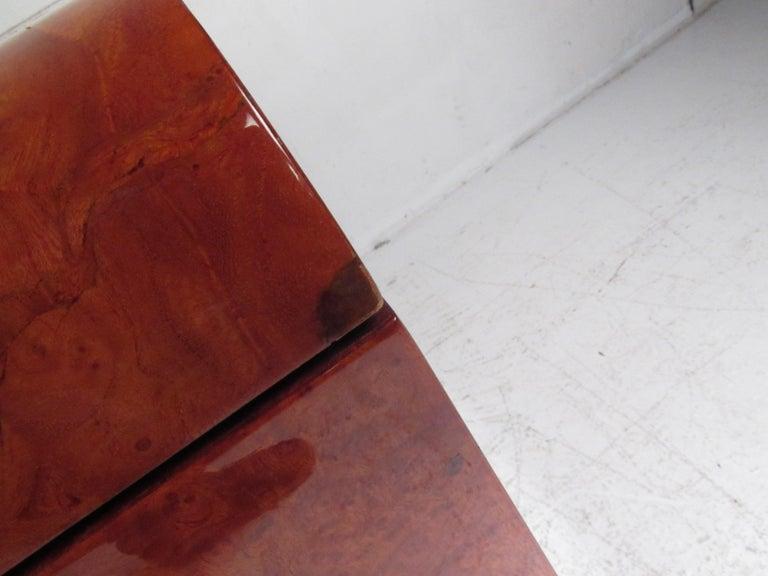 Midcentury Leon Rosen Pace Burl wood Credenza For Sale 5