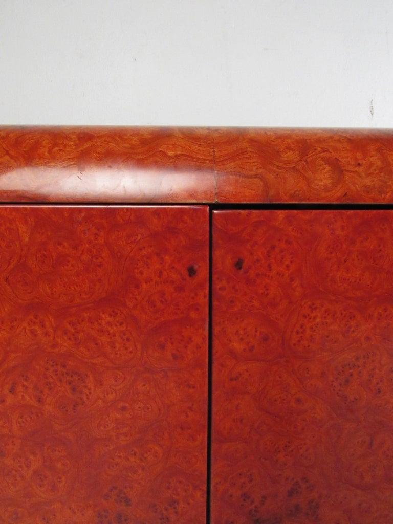 Midcentury Leon Rosen Pace Burl wood Credenza For Sale 6