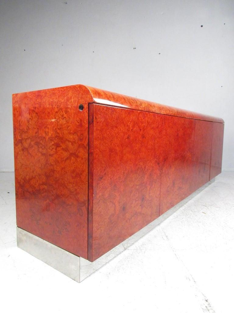 Mid-Century Modern Midcentury Leon Rosen Pace Burl wood Credenza For Sale