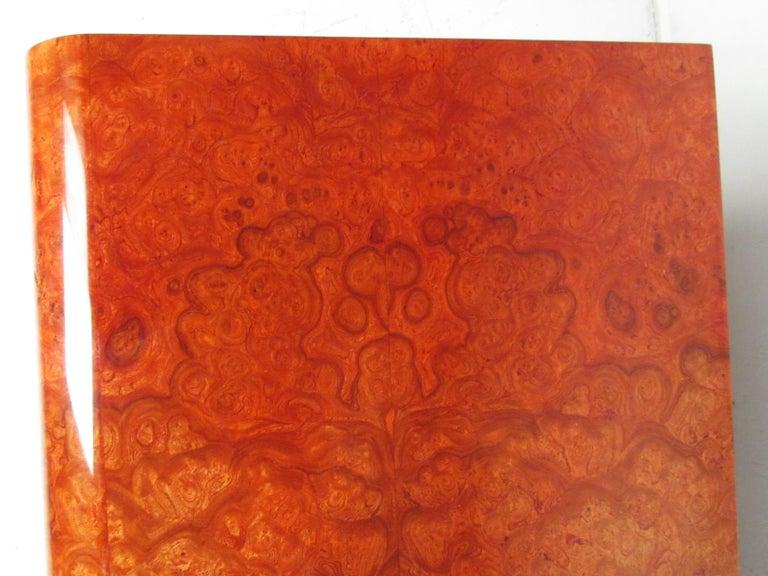 Midcentury Leon Rosen Pace Burl wood Credenza For Sale 2