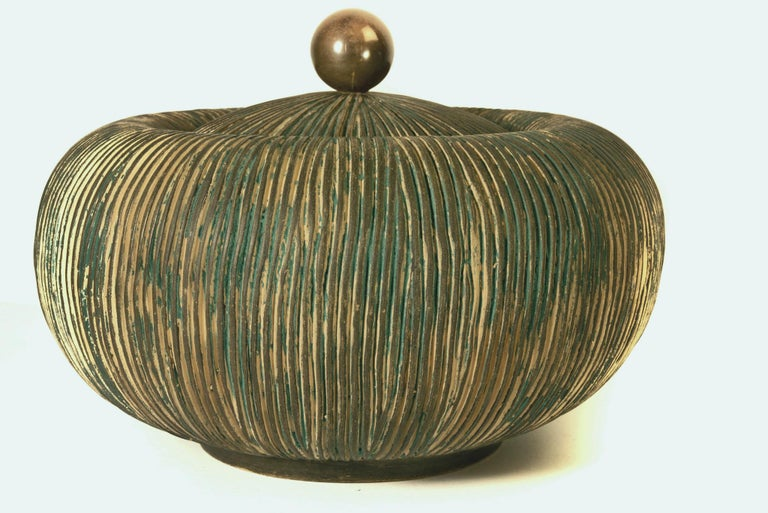 Mid-Century Modern Mid Century Lidded Bowl by Ceramiche Batignani, Italy For Sale