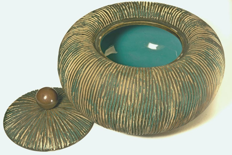 Italian Mid Century Lidded Bowl by Ceramiche Batignani, Italy For Sale