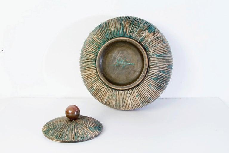 Mid Century Lidded Bowl by Ceramiche Batignani, Italy In Excellent Condition For Sale In Albano Laziale, Rome/Lazio