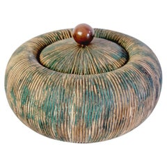 Mid Century Lidded Bowl by Ceramiche Batignani, Italy