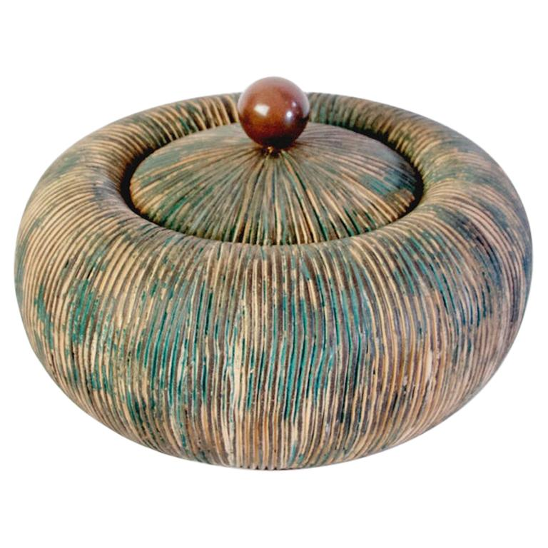 Mid Century Lidded Bowl by Ceramiche Batignani, Italy For Sale
