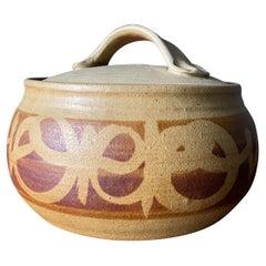 Mid Century Lidded Ceramic Bowl