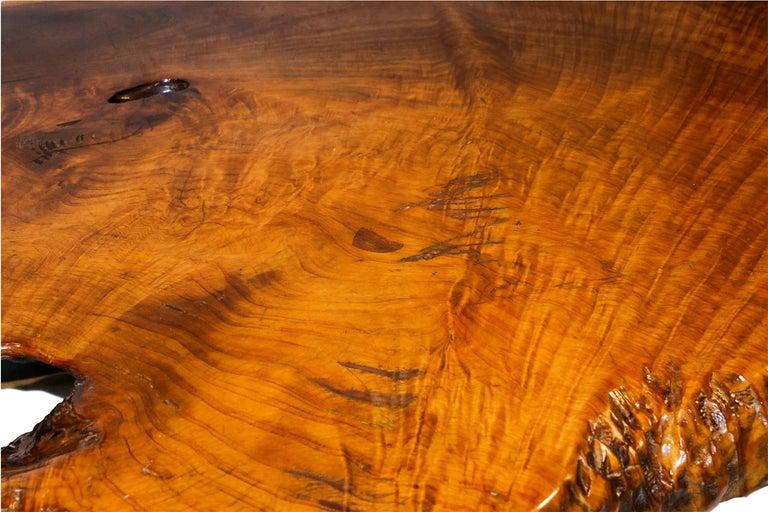 Mid-Century Modern Midcentury Live Edge Wood Tree Slab Coffee Table For Sale