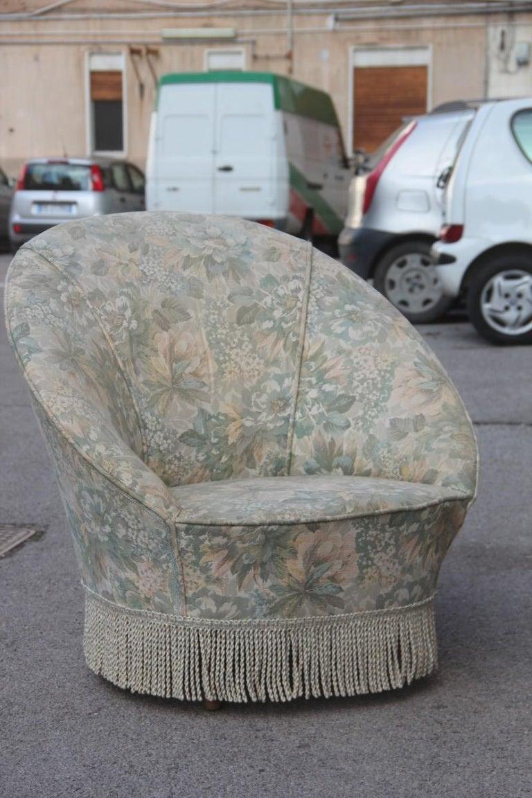 Mid-Century Living Room Sets  Italian Design Curved Sofa Boomerang  For Sale 8