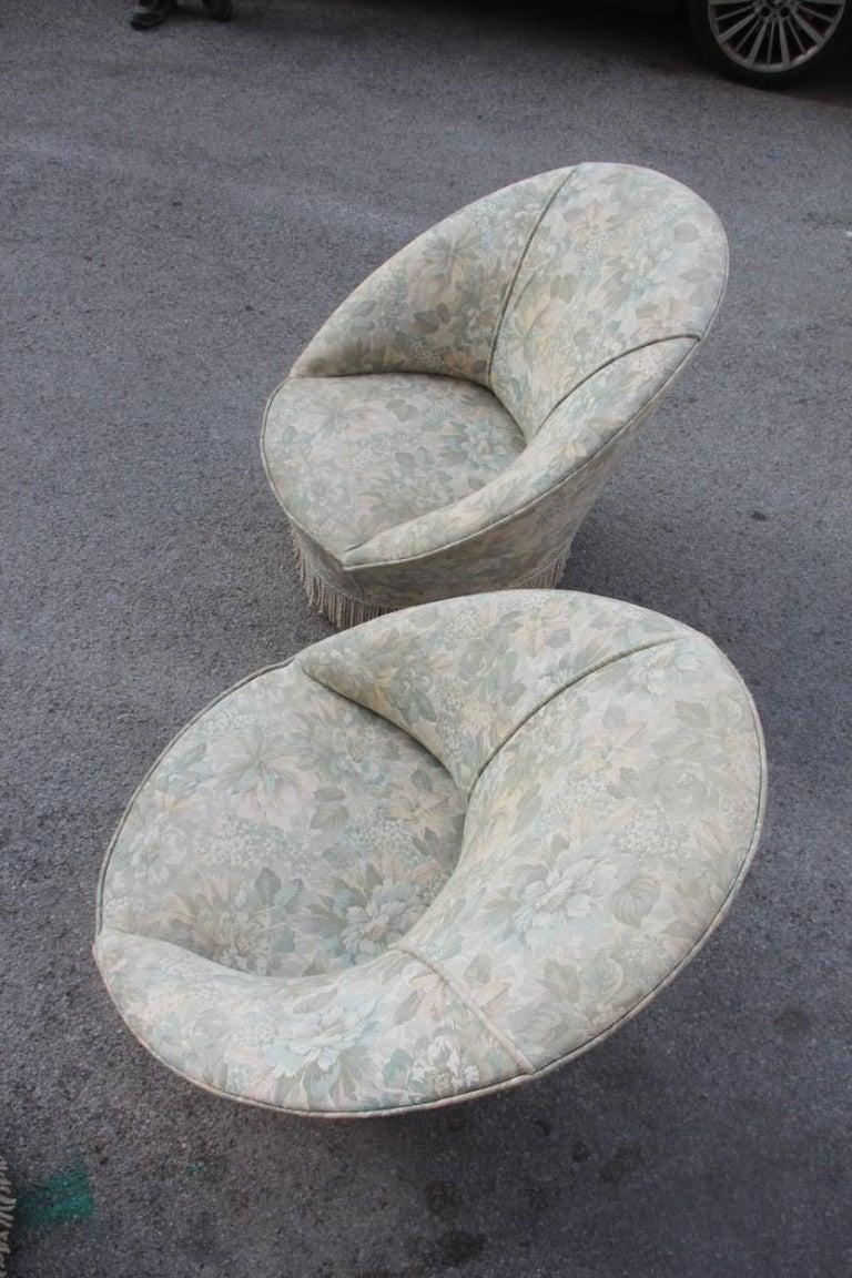Mid-Century Living Room Sets  Italian Design Curved Sofa Boomerang  For Sale 10
