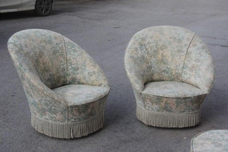 Mid-Century Living Room Sets  Italian Design Curved Sofa Boomerang  For Sale 12