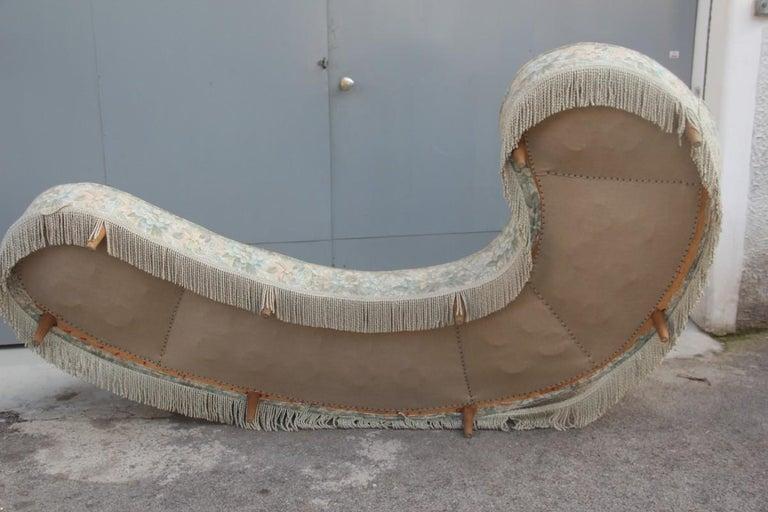 Mid-Century Living Room Sets  Italian Design Curved Sofa Boomerang  For Sale 13