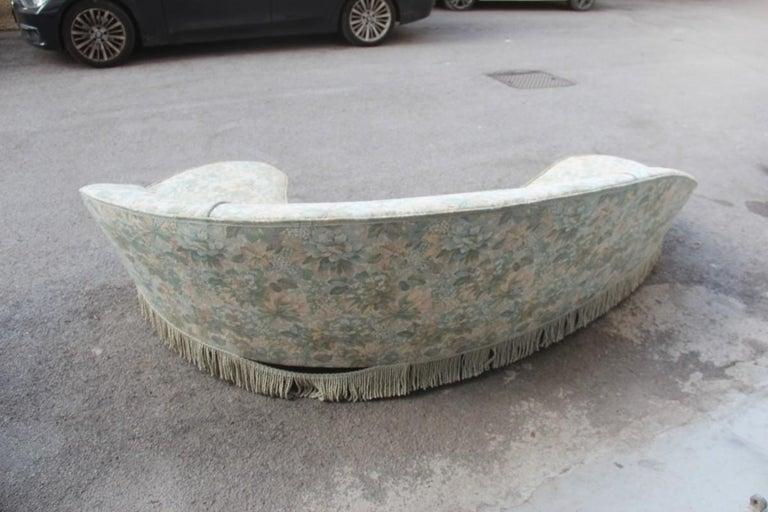 Mid-Centuryliving room sets Italian design curved sofa boomerang. Sofa height cm.90, width cm.250, depth cm.170.
