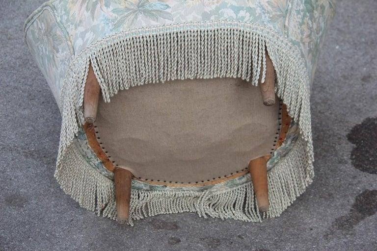 Mid-Century Living Room Sets  Italian Design Curved Sofa Boomerang  For Sale 14