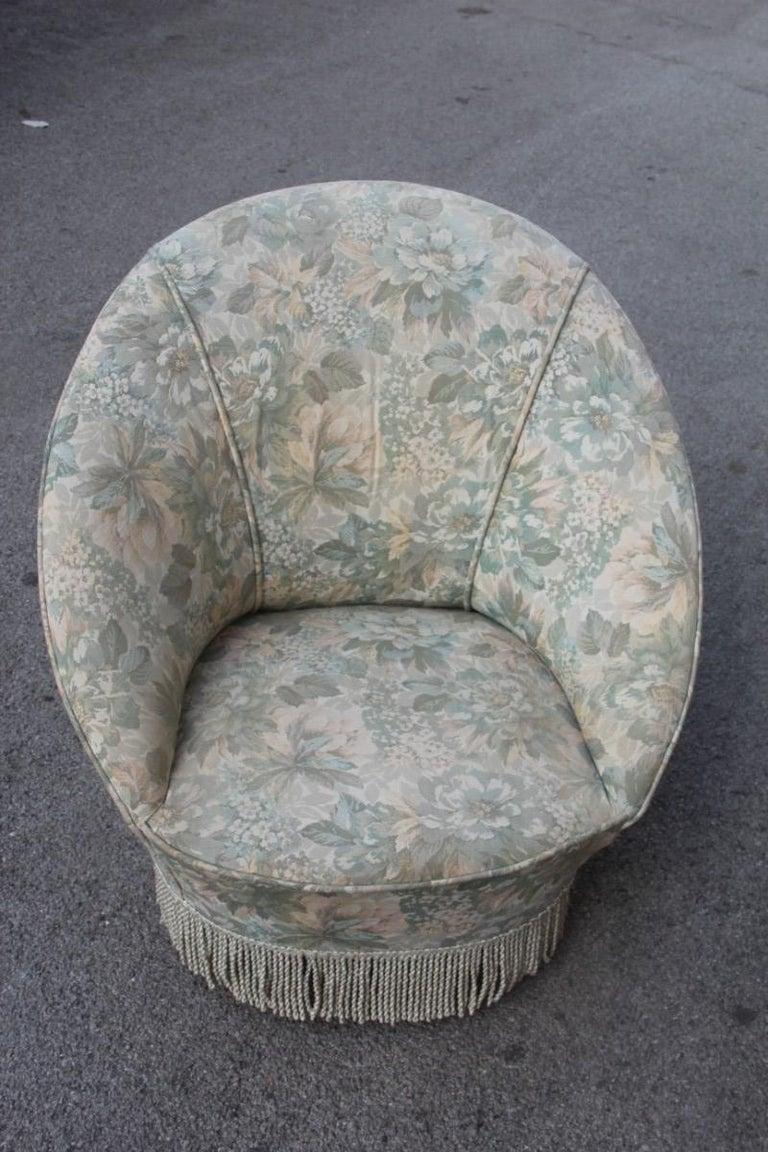 Mid-20th Century Mid-Century Living Room Sets  Italian Design Curved Sofa Boomerang  For Sale