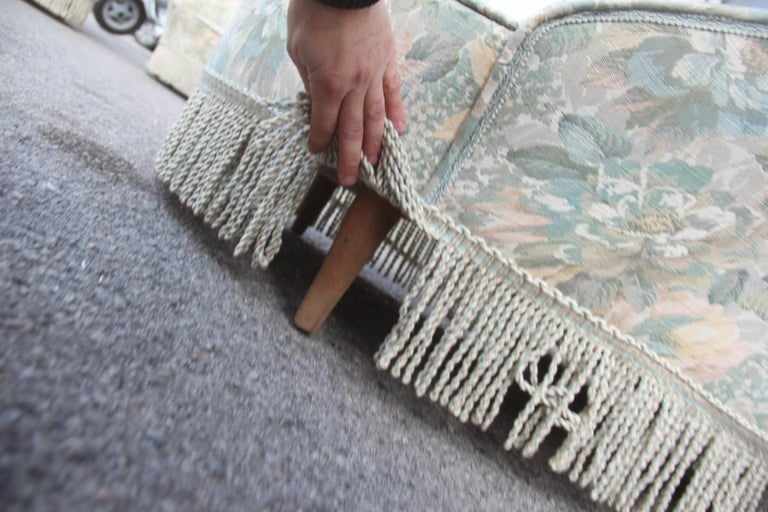 Mid-Century Living Room Sets  Italian Design Curved Sofa Boomerang  For Sale 1