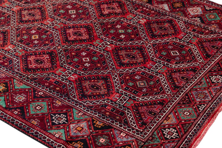 Mid Century Long Afshar Runner For Sale 3