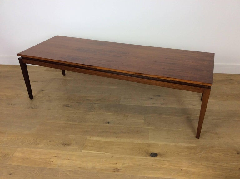 Mid-Century Modern Midcentury Long Rosewood Table For Sale