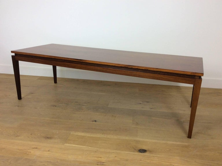 Danish Midcentury Long Rosewood Table For Sale