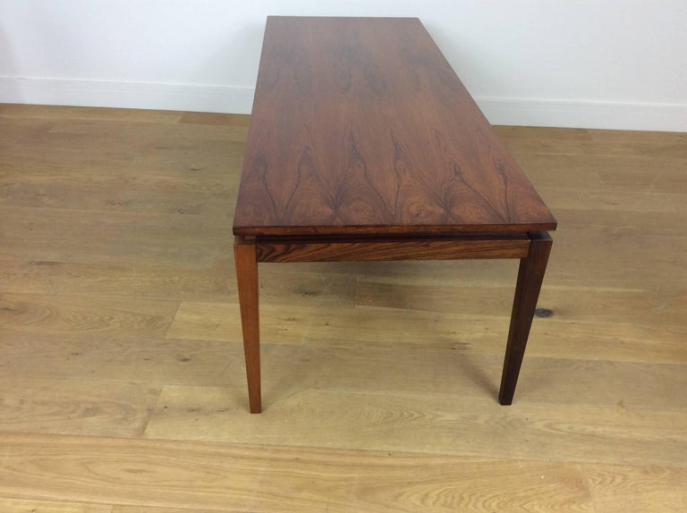 20th Century Midcentury Long Rosewood Table For Sale