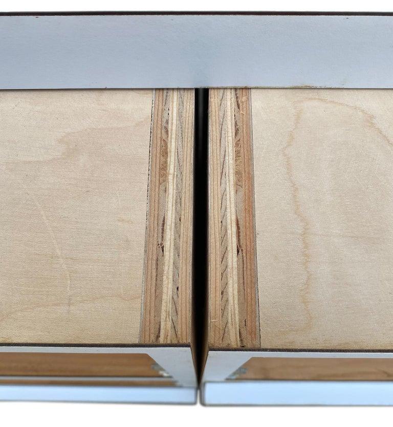 Midcentury Long White Laminate Plywood Custom 12-Drawer Dresser Credenza For Sale 7