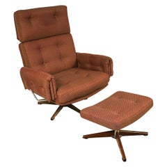 Midcentury Lounge Chair and Ottoman