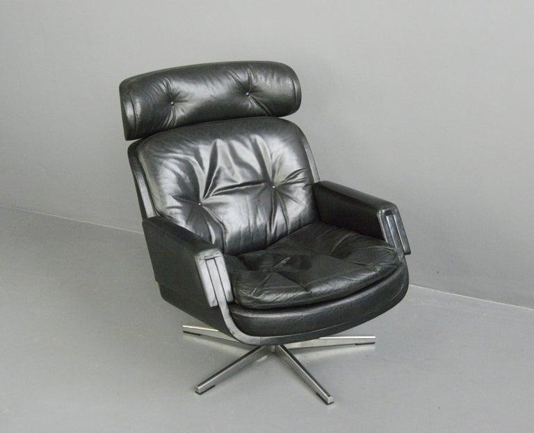 Midcentury Lounge Chair by Kurt Hvitsjö for Isku, circa 1960s For Sale 4