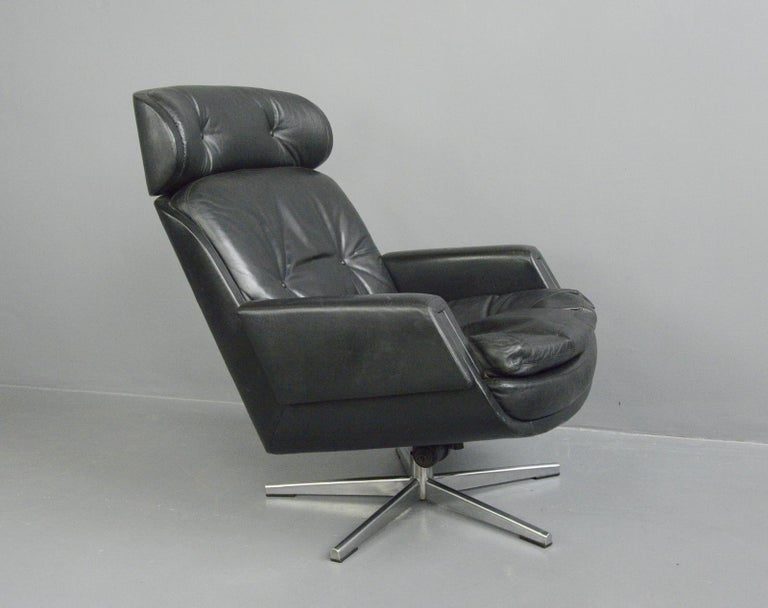 Midcentury Lounge Chair by Kurt Hvitsjö for Isku, circa 1960s In Good Condition For Sale In Gloucester, GB