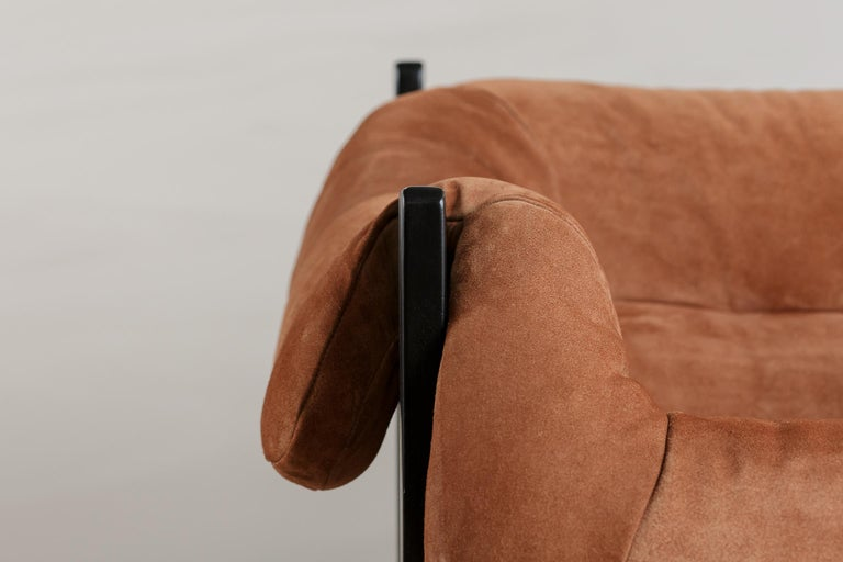 Leather Midcentury Lounge Chair by Percival Lafer, 1960s For Sale