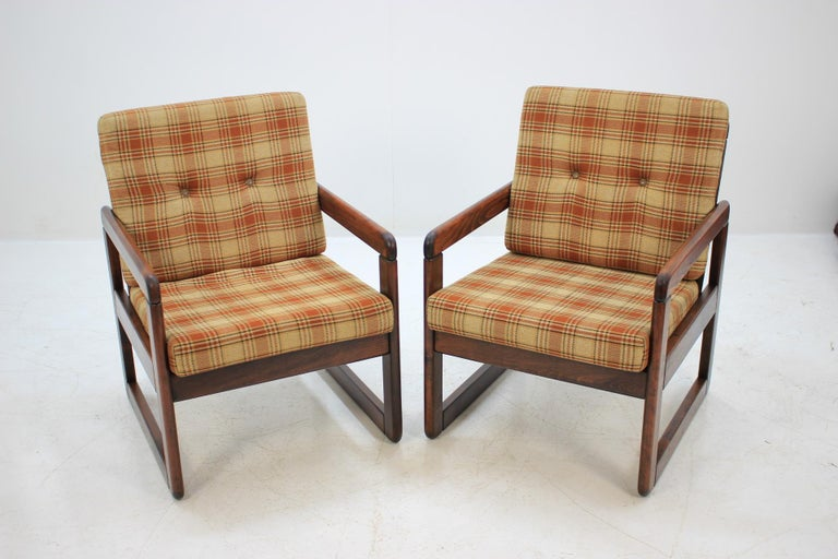 Mid-Century Modern Midcentury Lounge Chair, Czechoslovakia, 1970s For Sale