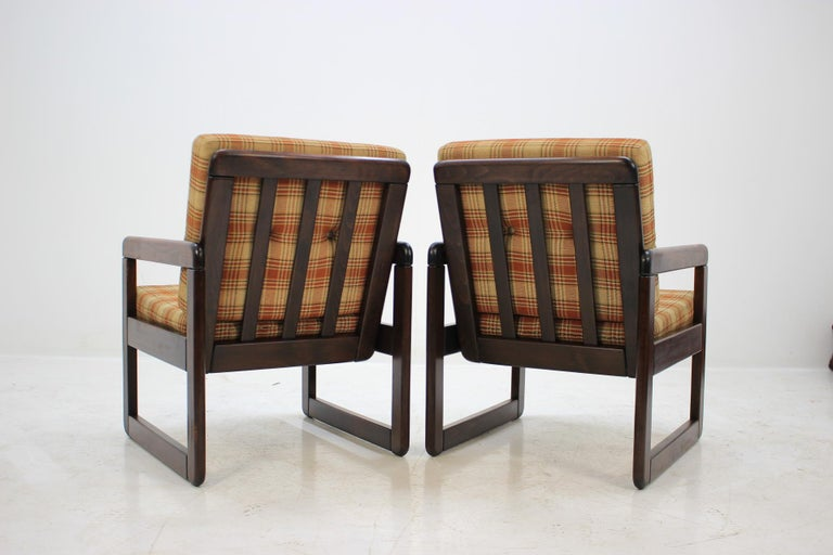 Late 20th Century Midcentury Lounge Chair, Czechoslovakia, 1970s For Sale