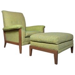 Midcentury Lounge Chair and Ottoman by Kroehler after Paul McCobb