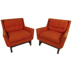 Midcentury Lounge Chairs by Selig, a Pair