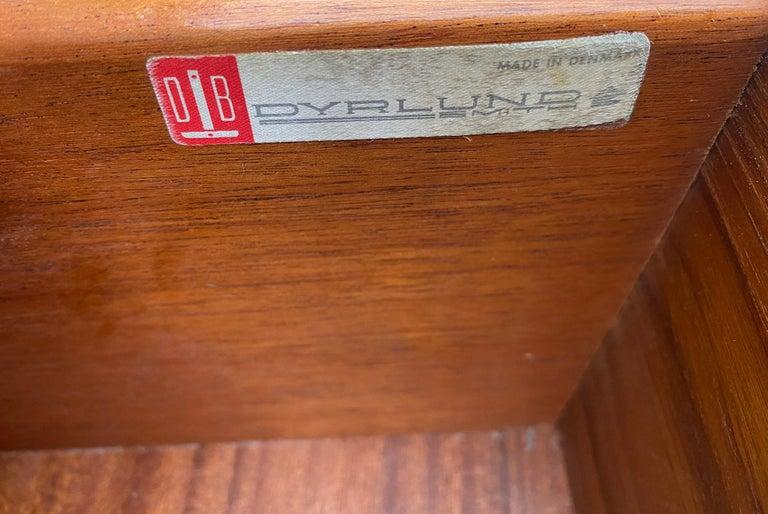 Midcentury Low Dyrlund Teak Dresser Credenza Six-Drawer For Sale 3