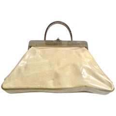 Mid-Century Lucite and Vinyl Florida Hand Bag By, Charles Kahn
