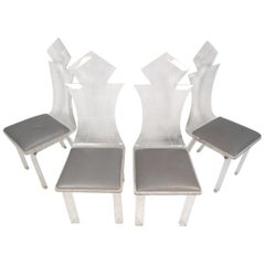 Midcentury Lucite Dining Chairs, Set of 4