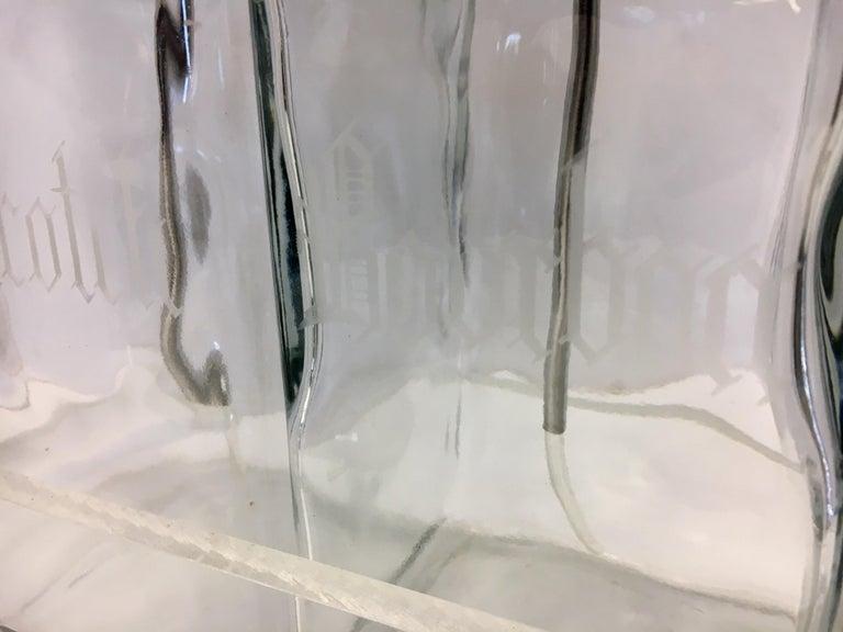 Midcentury Lucite Glass Bar Barware Decanters Pump Scotch Bourbon Vodka Gin For Sale 5