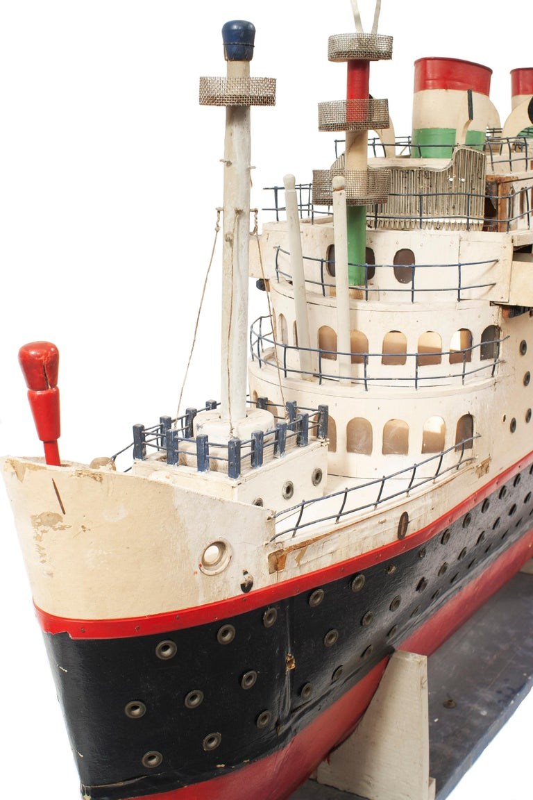 American Mid-Century Luxury Liner Ship Model For Sale